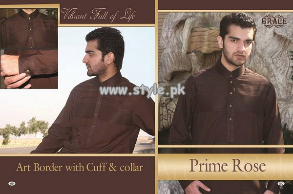 Grace Fabrics Eid Collection 2013 For Men 007