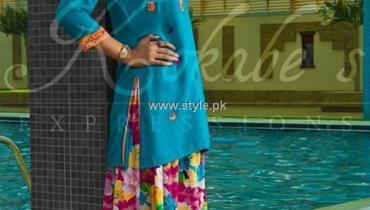 Kokabe's Expressions Party Wear Dresses 2013 for Eid