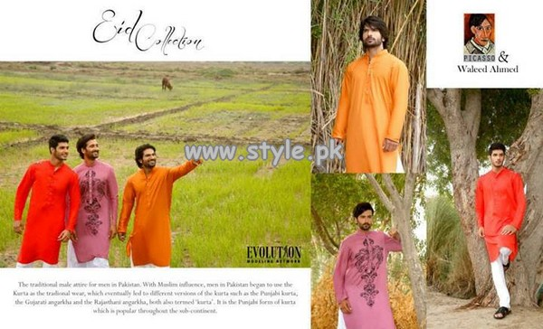Picasso and Waleed Ahmed Eid Dresses 2013 For Men 006