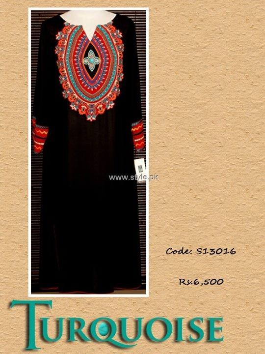 Turquoise Eid Collection 2013 for Women