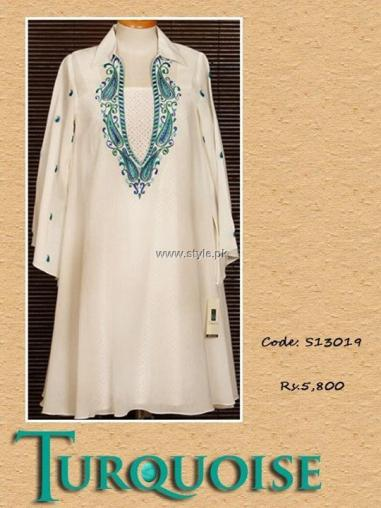 Turquoise Eid Collection 2013 for Women 011