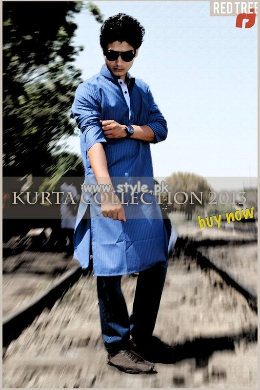 Red Tree Kurta Shalwar Collection 2013 For Men 006