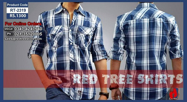 Red Tree Winter Shirts 2013 For Men 001