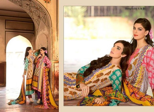 Zubaida Textile Mills Fall Dresses 2013 For Women 003