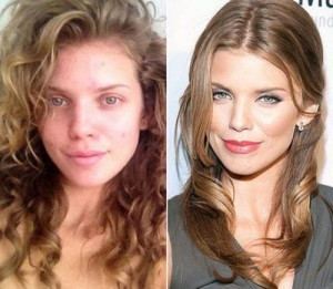 AnnaLynne McCord 2 With&without makeup