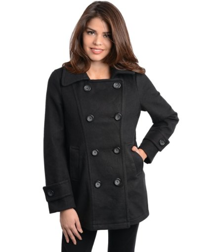 Black Coat For Girls Winter 2013 2014
