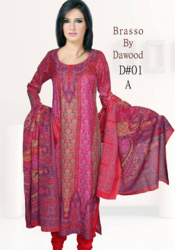 Dawood Textiles Winter Dresses 2013 For Women 006