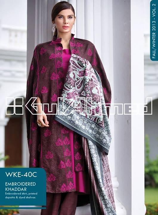 Gul Ahmed Winter Dresses 2013-2014 Volume 2 for Women