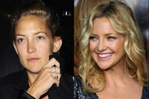 Kate Hudson With&without makeup