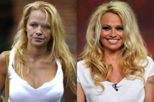 Pamela Anderson With&without makeup