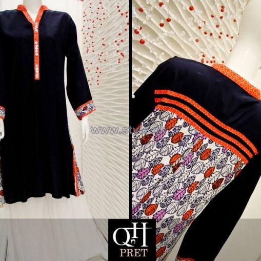 QnH Winter Long Shirt Designs 2013 For Women 7
