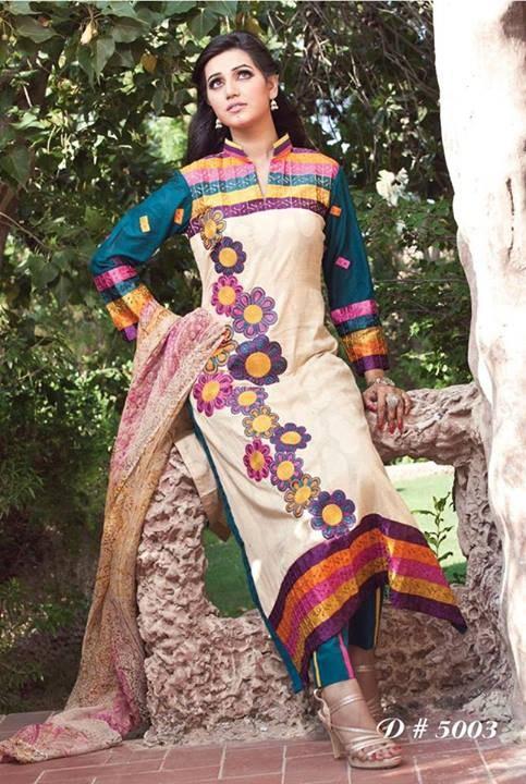 Rujhan Fabric Winter Dresses 2013 For Women