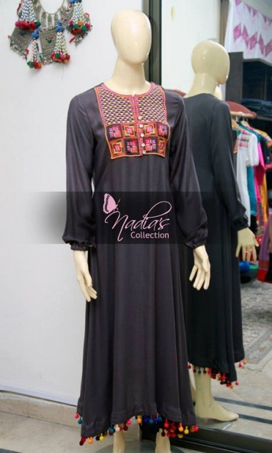 Nadia's Collection Winter Dresses 2014 For Women 001