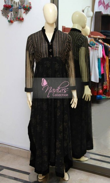 Nadia's Collection Winter Dresses 2014 For Women 002