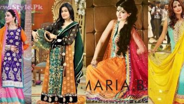 Pakistani Mehndi Dresses 2014 for Girls