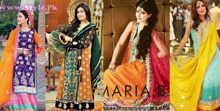 Pakistani Mehndi Dresses 2014 for Girls