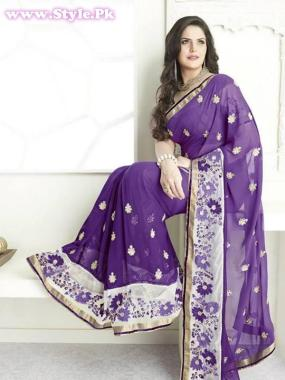 Latest Designs of Sarees 2014 for Women007