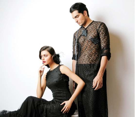 Mansoor Akram Western Dresses 2014 For Men And Women