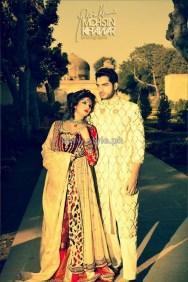 Maria B Wedding Wear Dresses 2014 For Men and Women 4