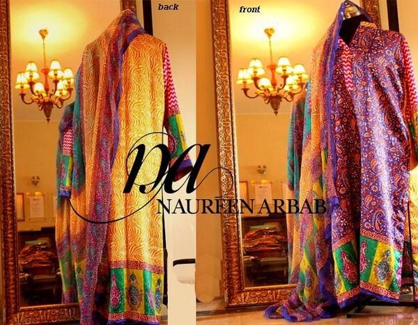 Naureen Arbab Winter Dresses 2014 For Girls 007
