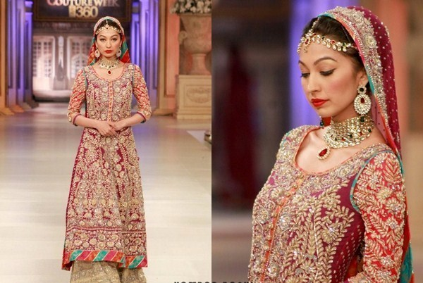 Pakistani Full Sleeve Wedding Dresses 2014 004
