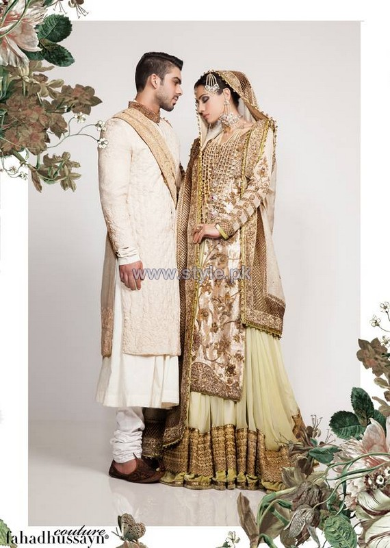 Fahad Hussayn Wedding Wear Dresses 2014 For Men and Women 4