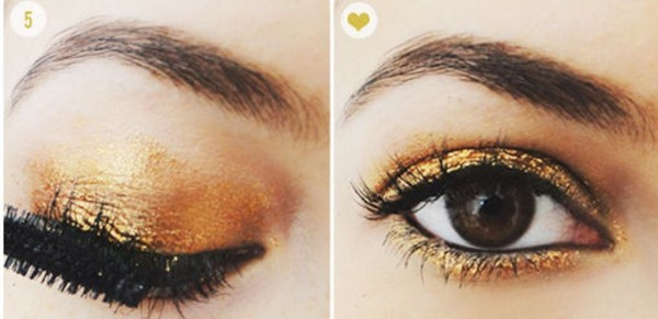 How To Get Gold Sparkle Eyeshadow 3