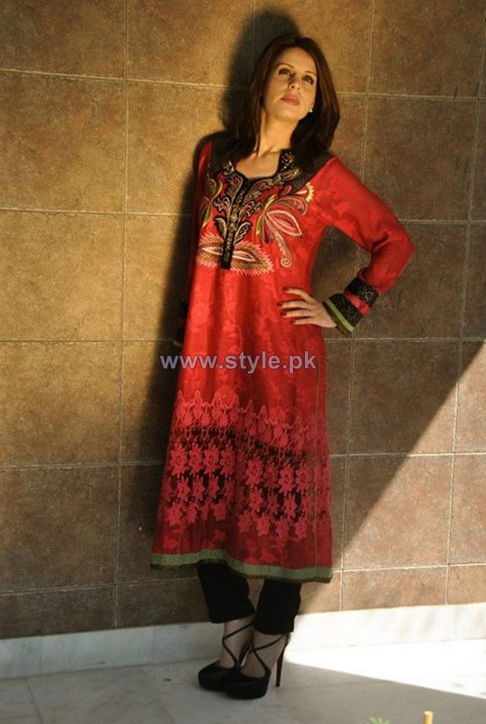 Nadia Farooqui Spring Summer Dresses 2014 For Girls 4