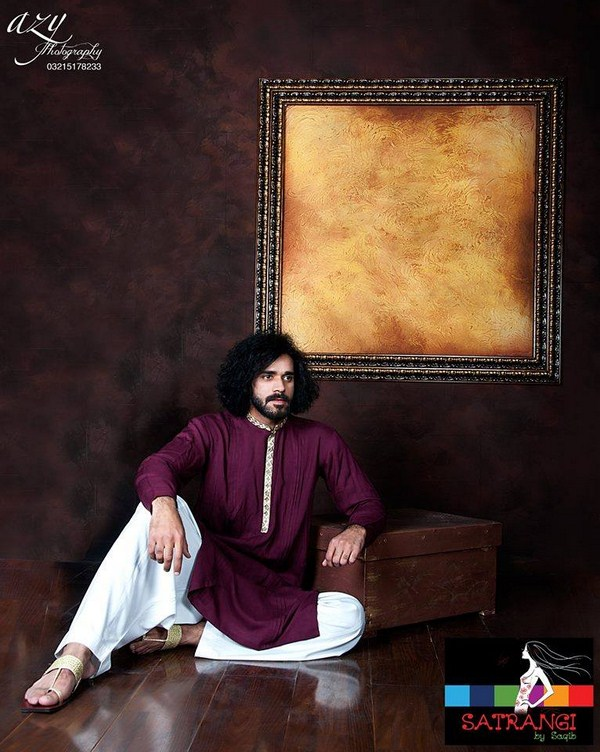 Satrangi By Saqib Spring Dresses 2014 For Men 004