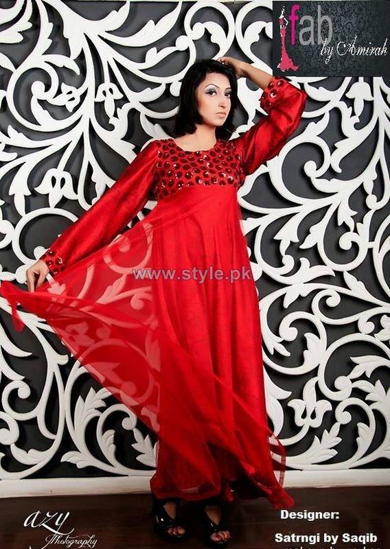 Satrangi by Saqib Dresses 2014 For Valentines Day 1