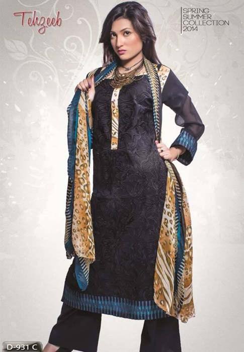 Shahzeb Designer Spring Dresses 2014 For Women 004