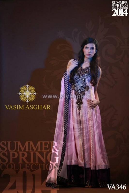 Vasim Asghar Spring Summer Dresses 2014 For Girls 2