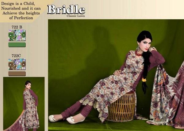 Ajwa Textiles Summer Dresses 2014 For Women 006