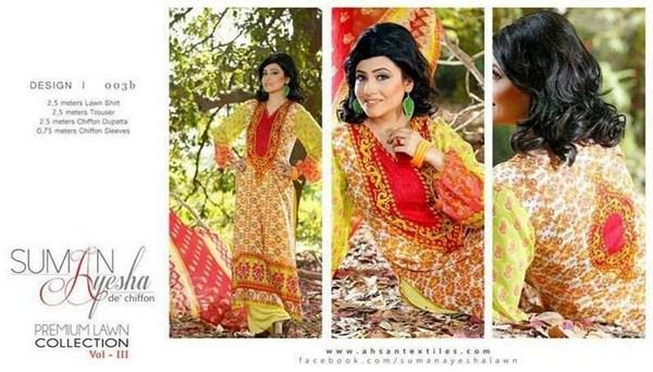 Suman Ayesha Lawn Dresses 2014 Volume 3 For Women 0012