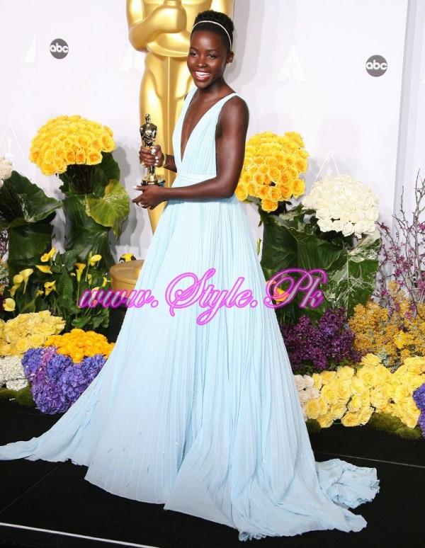 Winner Of best Supporting Actress Oscar award Lupita Nyong'o,