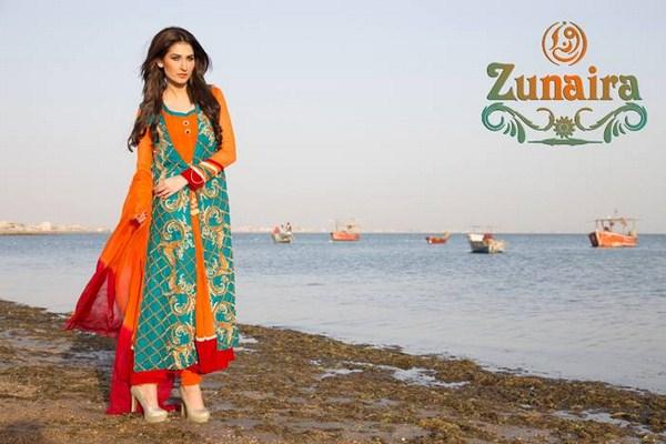 Zunaira Lounge Summer Dresses 2014 For Women 005