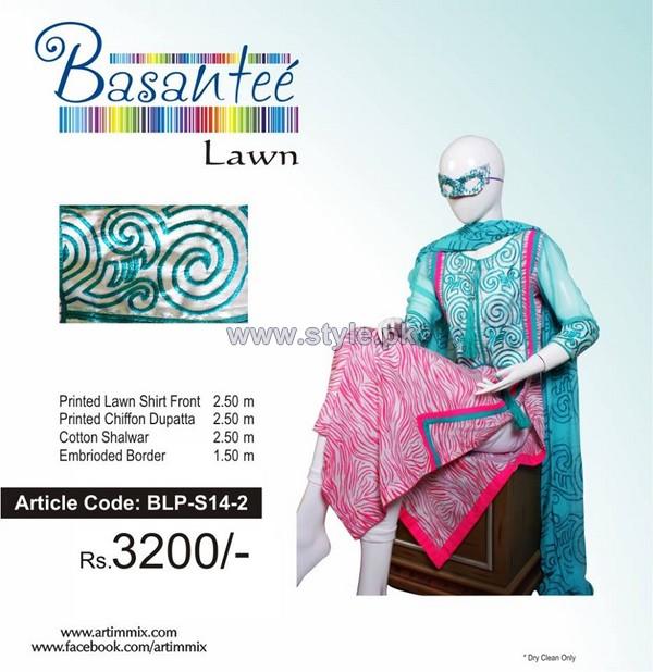 Artimmix Basantee Lawn Dresses 2014 Volume 1 4