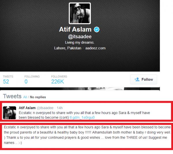Atif Aslam Tweeted On Social Media.