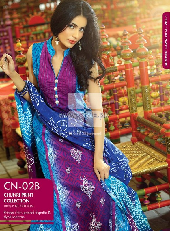 Gul Ahmed Chunri Collection 2014 For Women 7