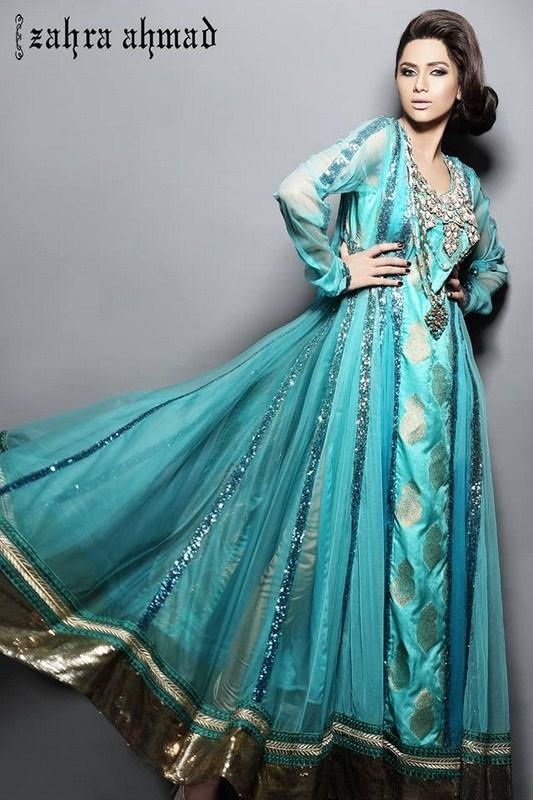 Zahra Ahmad Summer Dresses 2014 For Women 001