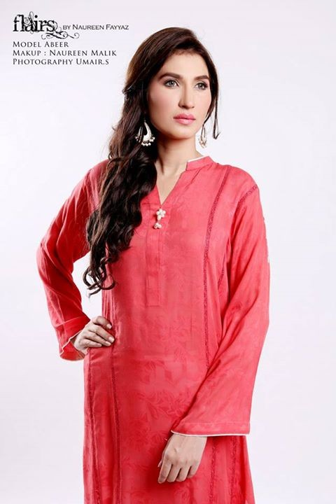 Flairs by Naureen Fayyaz Summer Dresses 2014 for Women013