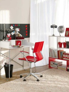 Home Office Designs With Red Accents 002