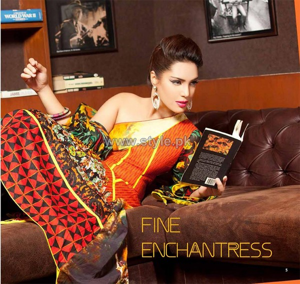 La Reina Digital Print Dresses 2014 by Shariq Textiles 4