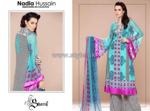 Nadia Hussain Embroidered Eid Dresses 2014 For Women 5