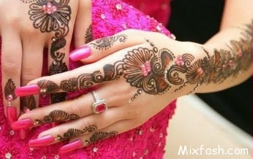 Glitter Mehndi Designs 2014 For Women 002
