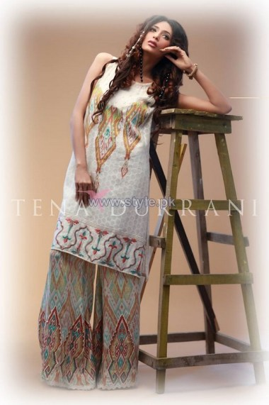 Tena Durrani Eid Dresses 2014 For Girls 1