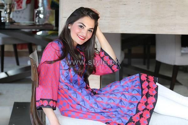 Ayesha Khurram Mid Summer Dresses 2014 For Women 2