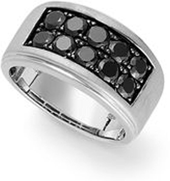 Designs Of Black Sapphire Rings 2014 For Men 0012