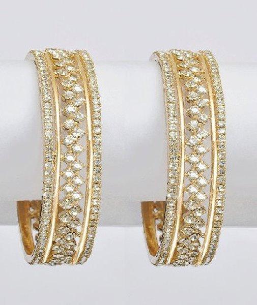 Designs Of Bridal Diamond Bangles 2014 For Women 0014
