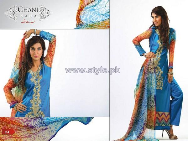 Ghani Kaka Textile Mid Summer Dresses 2014 For Girls 5
